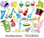 music instruments | Shutterstock .eps vector #70128562