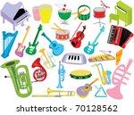 music instruments   Shutterstock .eps vector #70128562