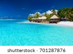 tropical beach | Shutterstock . vector #701287876