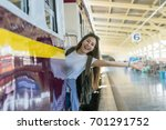 asia woman traveller feeling... | Shutterstock . vector #701291752