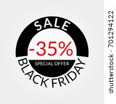 35  sale tag or discount icon.... | Shutterstock .eps vector #701294122