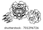 a tiger angry animal esports... | Shutterstock .eps vector #701296726