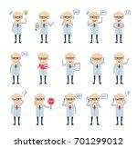 set of old professor characters ... | Shutterstock .eps vector #701299012
