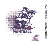 paintball player stylized... | Shutterstock .eps vector #701302792