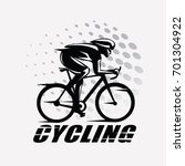 cycling race stylized symbol ... | Shutterstock .eps vector #701304922