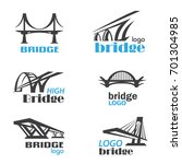 bridge symbol logo template... | Shutterstock .eps vector #701304985