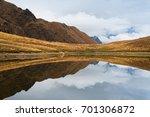 beautiful mountain lake.... | Shutterstock . vector #701306872