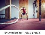 men with rope in functional... | Shutterstock . vector #701317816