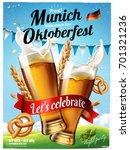 oktoberfest festival poster ...   Shutterstock . vector #701321236