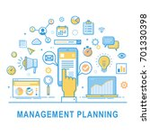 management planning. vector... | Shutterstock .eps vector #701330398