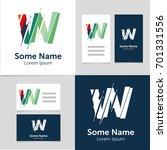 editable business card template ... | Shutterstock .eps vector #701331556