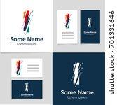 editable business card template ... | Shutterstock .eps vector #701331646