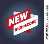 new high score arrow tag sign.  | Shutterstock .eps vector #701332528