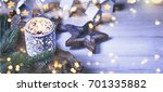 christmas candle | Shutterstock . vector #701335882