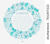alternative medicine concept in ... | Shutterstock .eps vector #701347222
