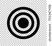 target icon. vector. flat style ... | Shutterstock .eps vector #701347438