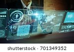 futuristic gui. graphical user... | Shutterstock . vector #701349352
