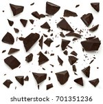 cracked or broken chocolate... | Shutterstock . vector #701351236