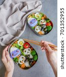 fun with animated shaped food... | Shutterstock . vector #701352955