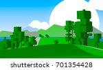 cartoon countryside. | Shutterstock . vector #701354428