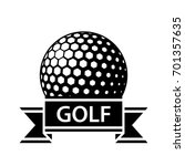 golf ball black ribbon simple... | Shutterstock .eps vector #701357635