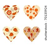 vector vintage hearts with...   Shutterstock .eps vector #70135924