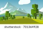 cartoon countryside stylized. | Shutterstock . vector #701364928