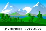 stylized countryside cartoon. | Shutterstock . vector #701365798