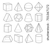 geometric shapes outline set.... | Shutterstock .eps vector #701367172
