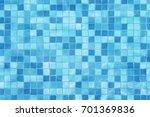 swimming pool mosaic bottom... | Shutterstock . vector #701369836