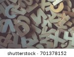 word made with wooden letters.... | Shutterstock . vector #701378152