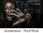 close up portrait of horrible... | Shutterstock . vector #701379526