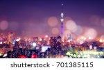 nightlife in tokyo. tokyo sky... | Shutterstock . vector #701385115