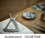 loose diamonds  diamond sieves... | Shutterstock . vector #701387008
