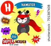 super big set. cute vector zoo...   Shutterstock .eps vector #701387608