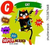 super big set. cute vector zoo... | Shutterstock .eps vector #701387668