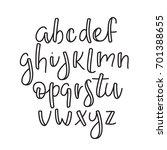 super simple abc. english line... | Shutterstock .eps vector #701388655