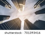 business buildings skyline... | Shutterstock . vector #701393416