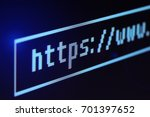 Small photo of Address bar on computer display closeup