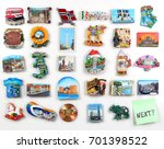 many magnets on the... | Shutterstock . vector #701398522