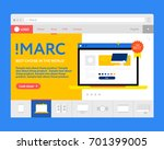 home page of the online store... | Shutterstock .eps vector #701399005