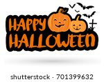 halloween text banner with... | Shutterstock .eps vector #701399632