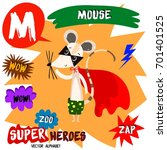 super big set. cute vector zoo... | Shutterstock .eps vector #701401525
