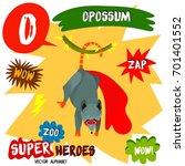 super big set. cute vector zoo... | Shutterstock .eps vector #701401552