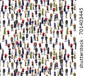 big people crowd on white... | Shutterstock .eps vector #701403445