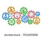 business mechanism gears...   Shutterstock .eps vector #701405008