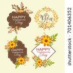 set of autumn floral  | Shutterstock .eps vector #701406352