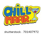 hindi chat stickers   chill ... | Shutterstock .eps vector #701407972