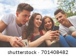 group of friends sitting... | Shutterstock . vector #701408482