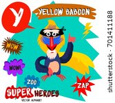 super big set. cute vector zoo... | Shutterstock .eps vector #701411188